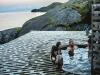 [노르웨이]  아울란드 피오르드에서 야외 온천 즐기기