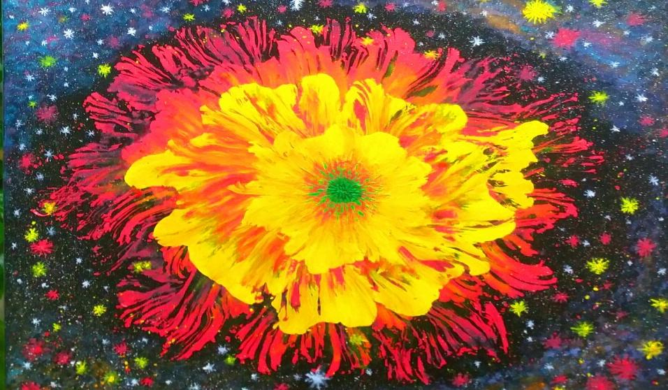[미술] 우주꽃...이영준 화가 새해 기원 담아 빅뱅을 캔버스에 옮겨