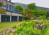 포인트빌, 북한산 야외 테라스 카페...유럽의 정원을 옮겨 놓은 듯한 풍경