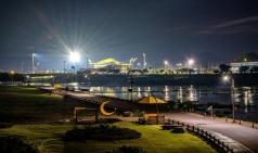 [장성군] 황룡강 야경, 노란색 연꽃으로 로맨틱한 풍경 조성